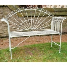 Green Metal Garden Bench