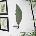 Green Metal Leaf Wall Sconce