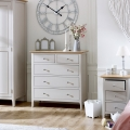 Grey 5 Drawer Chest - Devon Range