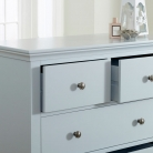 Grey 5 Drawer Chest of Drawers - Newbury Grey Range