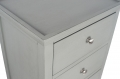 Grey 5 Drawer Tall Boy Chest of Drawers