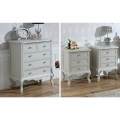 Grey Bedroom Furniture, Chest of Drawers & Pair of Bedside Tables - Elise Grey Range