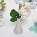 Grey Ceramic Embossed Floral Vase