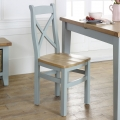 Grey Crossback Dining Chair - Rochford Range