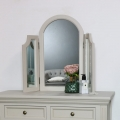 Grey Dressing Table, Mirror & Stool Set - Daventry Taupe-Grey Range