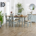Grey Extendable Dining Table & Chairs - Rochford Range