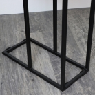 Grey Iron Side Table