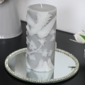 Grey Phoenix & Rose Printed Candle