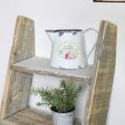 Grey Rustic Wooden Ladder Shelf Unit
