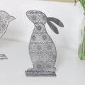 Grey Standing Rabbit Decoration