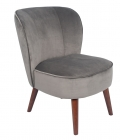Grey Velvet Accent Chair