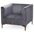 Grey Velvet Arm Chair