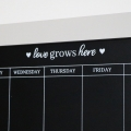 Grey Wooden Weekly Chalkboard Planner