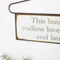 Hanger Wall Plaque - 'This house has…'