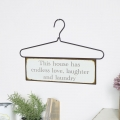 Hanger Wall Plaque - 'This house has…