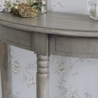 Hornsea Range - Wooden Half Moon Console Table