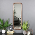 Industrial Copper Framed Mirror 26cm x 80cm