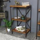 Industrial Wooden Shelf Unit