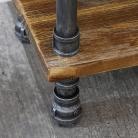 Industrial Metal & Wood Pipe Shelving Unit