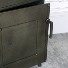 Industrial Style Metal Bedside Cabinet