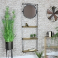 Industrial Wall Unit with Mirror
