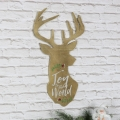 'Joy To The World' Wooden Christmas Stag Wall Plaque