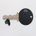 Key Shaped Chalkboard with Hooks