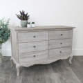 Large 6 Drawer Wooden Chest of Drawers - Temperley Range - SECOND