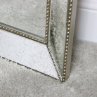 Large Antique Bevelled Wall/ Floor Mirror 76cm x 185cm