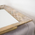 Large Antique Gold Filigree Mirrored Tray