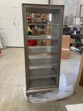Large Antique Silver Mirrored Bookcase - Tiffany Range - DAMAGED SECOND 3692