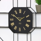 Large Black Clock with Shelves