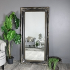 Large Black Distressed Ornate Mirror 158cm x 79cm