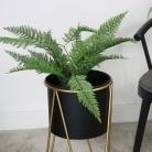 Large Black & Gold Planter