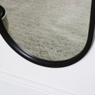 Large Black Oval Mirror 42cm x 156cm