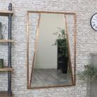 Large Copper Art Deco Wall Mirror 80cm x 120cm