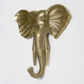 Large Gold Elephant Wall Hook
