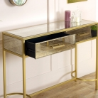 Gold Mirrored Console Hall Table - Cleopatra Range
