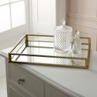 Large Gold Mirrored Cocktail Tray