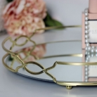 Large Gold Mirrored Display Tray