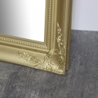 Large Gold Ornate Wall/Floor Mirror 158cm x 78cm