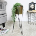 Large Gold Plant Stand