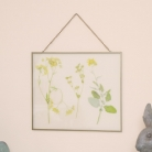 Large Gold Pressed Flower Wall Plaque