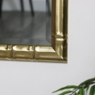 Large Gold Rectangle Bamboo Mirror  90cm x 120cm