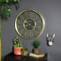 Metallic Gold Round Wall Clock