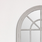 Large Grey Arched Window Mirror