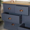 Large Grey Chest of Drawers - Grayson Range