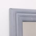Large Grey Rectangle Window Mirror