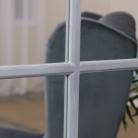 Large Grey Rectangle Window Mirror 130cm x 95cm