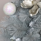 Large Grey & Silver Tipped Christmas Tree